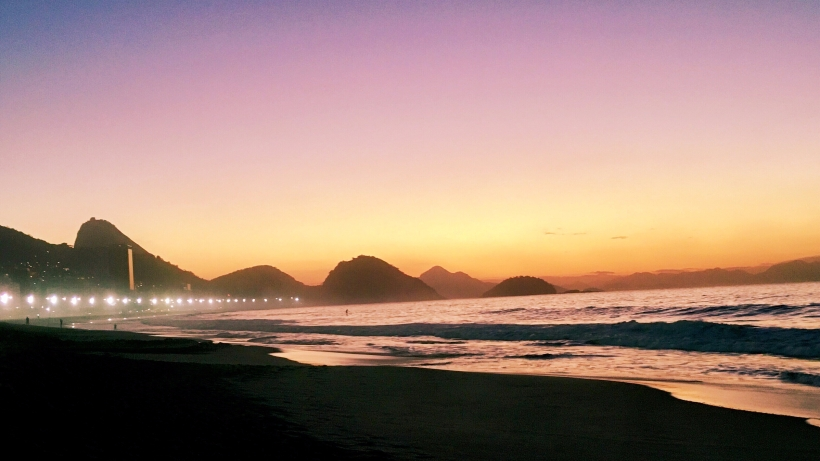 Sunrise in Rio at Copacabana Beach